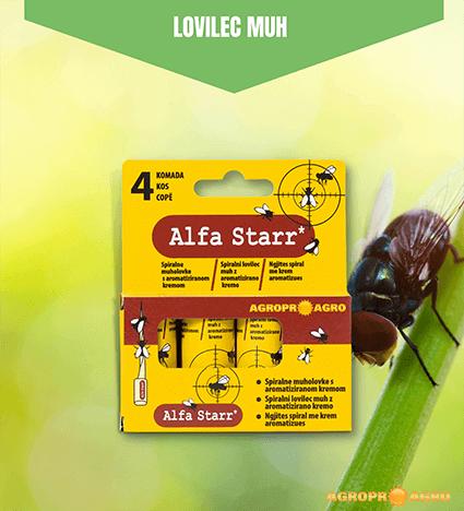 Alfa Starr spiralni lovilec muh z aromatizirano kremo