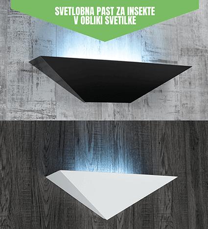 Illume , svetlobna past za insekte in kuhinjske molje elegantno oblikovana kot stenska svetilka