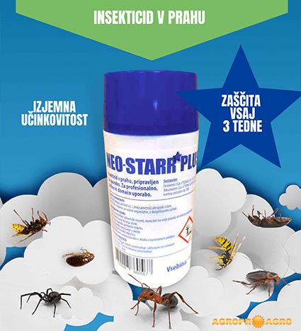 Insekticid Neo-Starr Plus proti plazečim insektom, ter proti osam in sršenom