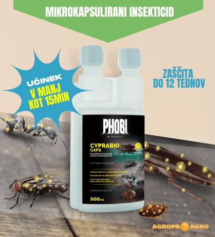 Insekticid phobi cyprabio caps proti plazečim in letečim insektom