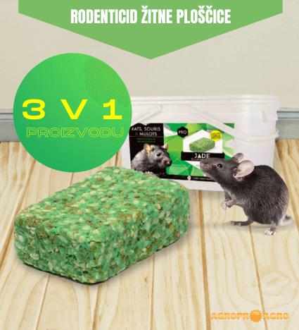 Jade žitne ploščice vabe proti mišim in podganam vse v enem proizvodu