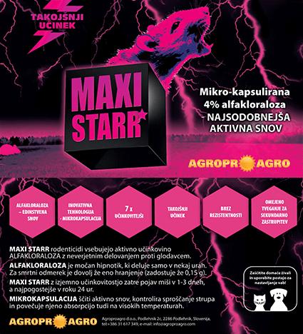 MAXI STARR inovativna vaba za miši in podgane 3. generacije