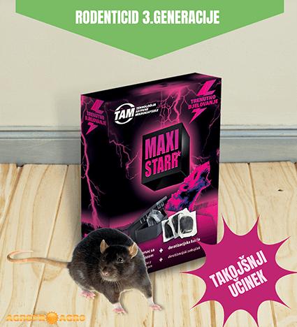 MAXI STARR mehka inovativna vaba za podgane in miši 3. generacije