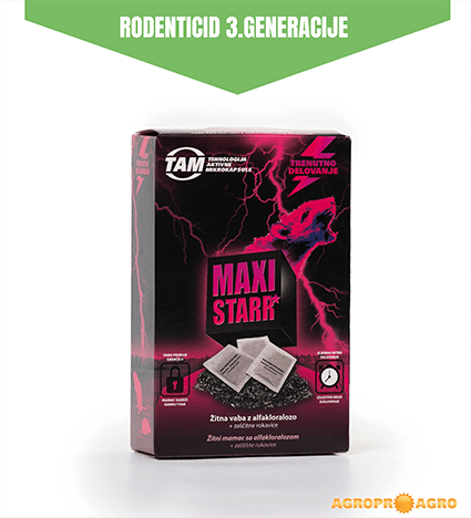 MAXI STARR žitna vaba inovativna vaba za miši in podgane 3. generacije