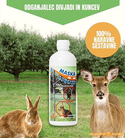 Maska Liquid odganjalec divjadi na naravni način (brez kemikalij in pesticidov)