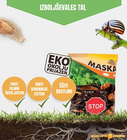 Maska organski izboljševalec tal in zaščita pred talnimi škodljivci