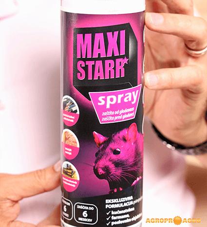 Odganjelec glodalcev MAXI STARR sprej za preprečevanje poškodb pred kunami in drugimi glodalci